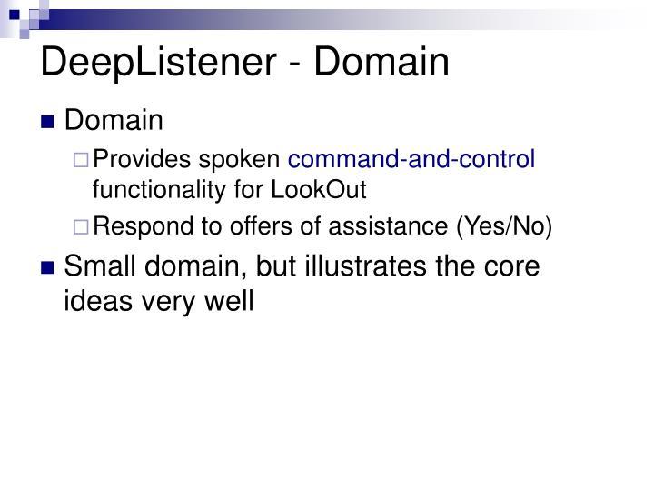 DeepListener - Domain