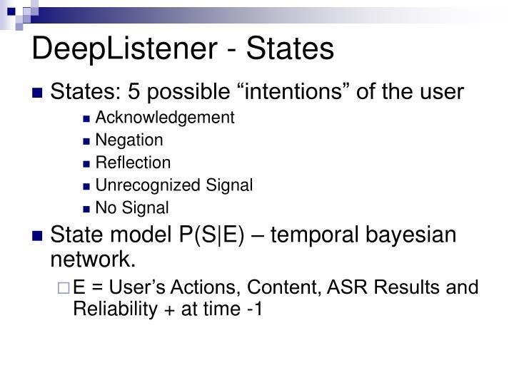 DeepListener - States