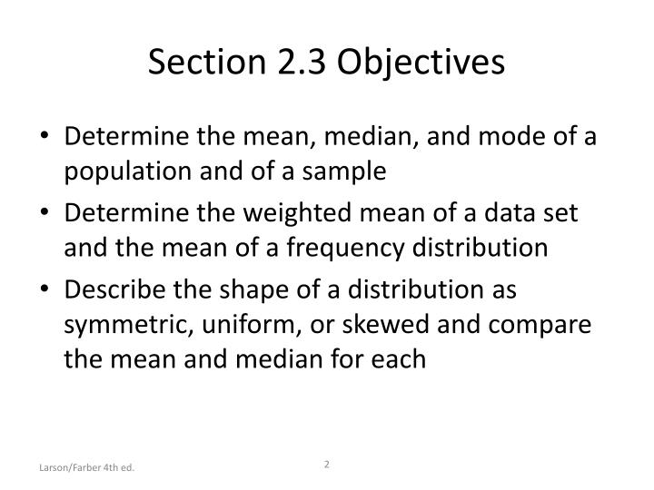 Section 2 3 objectives