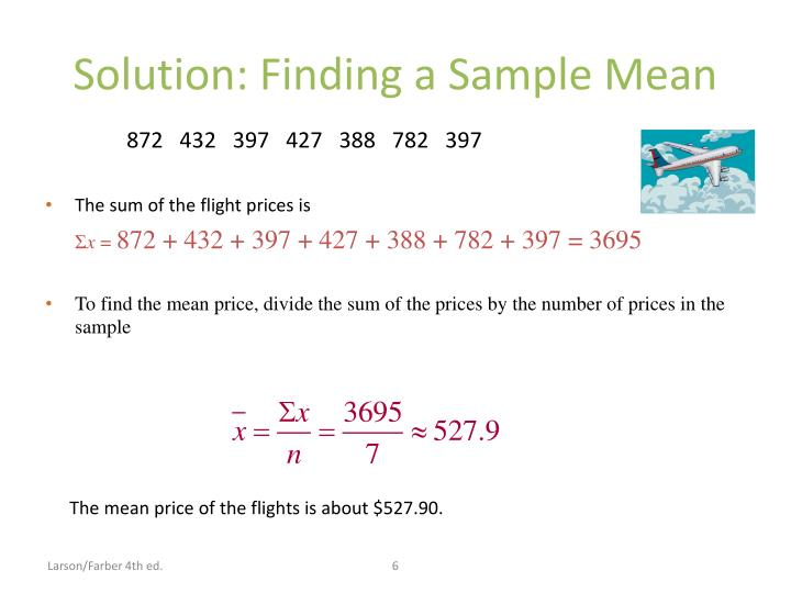 Solution: Finding a Sample Mean