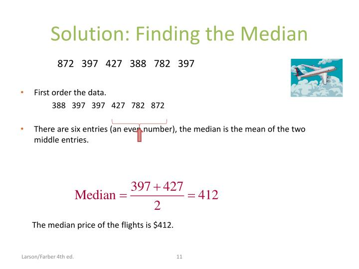 Solution: Finding the Median