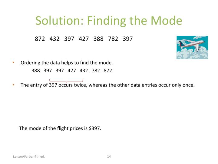 Solution: Finding the Mode