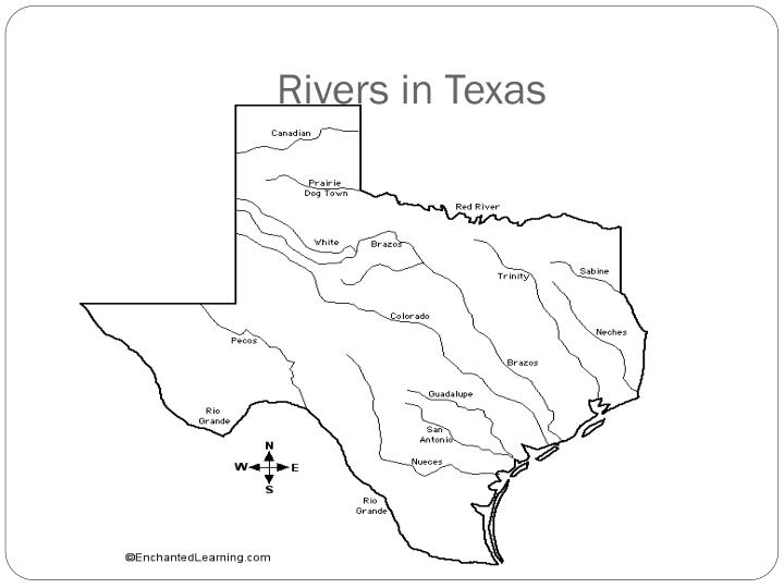 Rivers in Texas