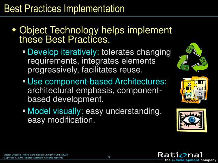 Best practices implementation