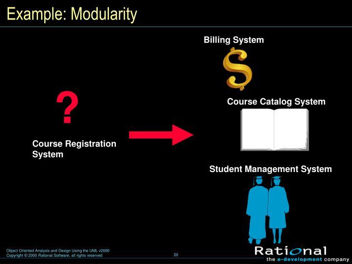 Example: Modularity