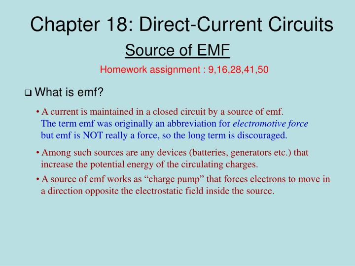 chapter 18 direct current circuits n.