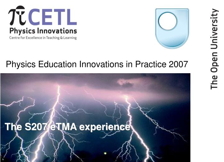physics education innovations in practice 2007 n.