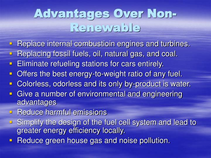 Advantages Over Non-Renewable