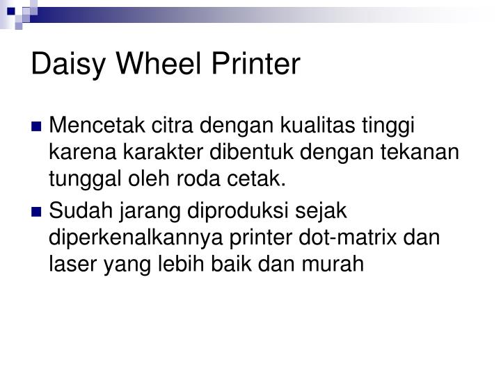 daisy wheel printer n.