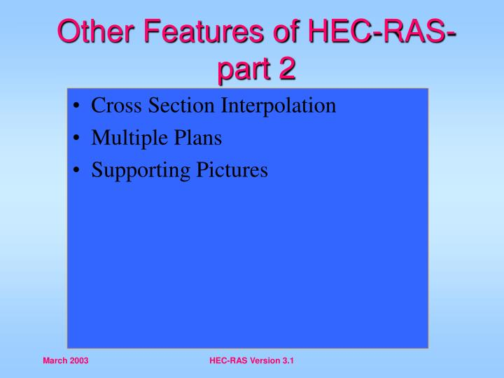 other features of hec ras part 2 n.