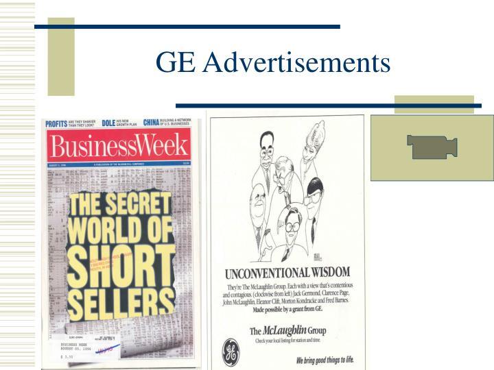 GE Advertisements