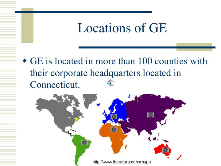 Locations of GE