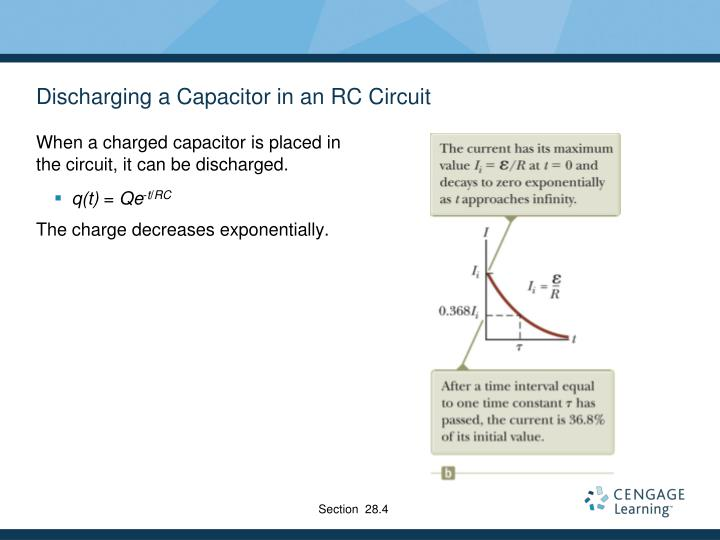 Discharging a Capacitor in an RC Circuit