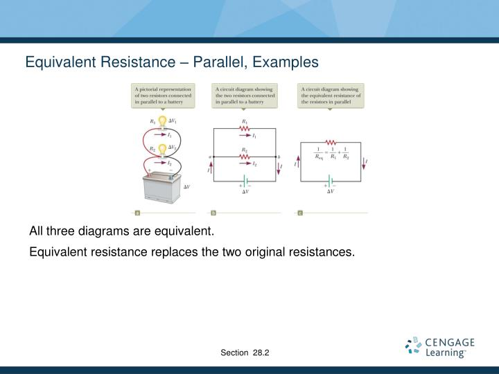 Equivalent Resistance – Parallel, Examples
