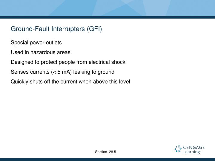 Ground-Fault Interrupters (GFI)