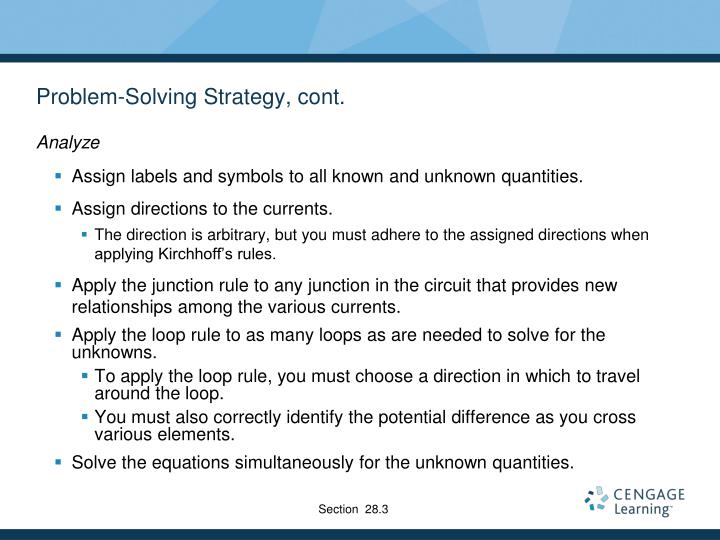 Problem-Solving Strategy, cont.