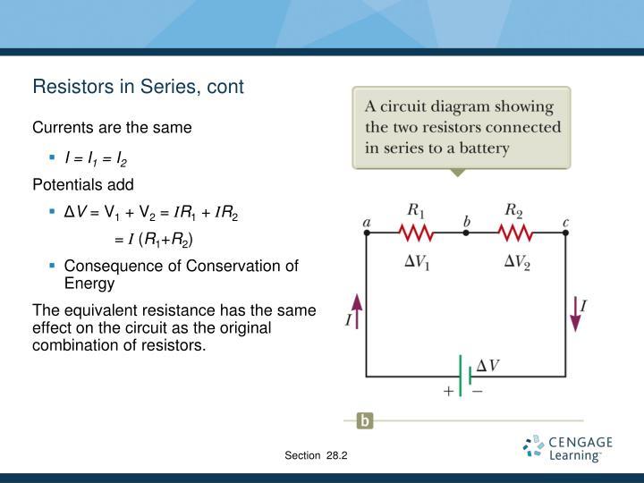 Resistors in Series, cont