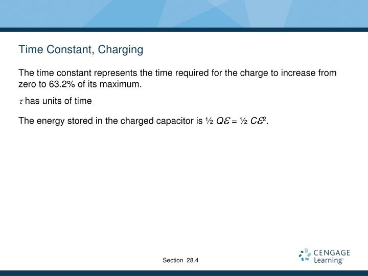 Time Constant, Charging