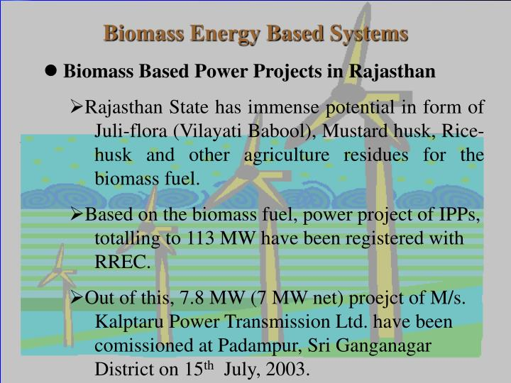 Biomass Energy Based Systems