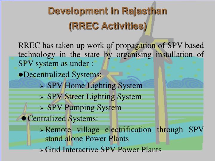 Development in Rajasthan