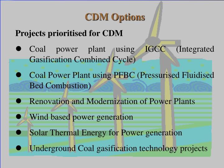 CDM Options
