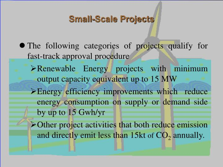 Small-Scale Projects