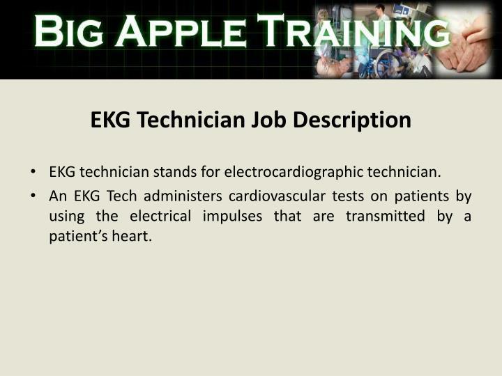 EKG Technician Job Description