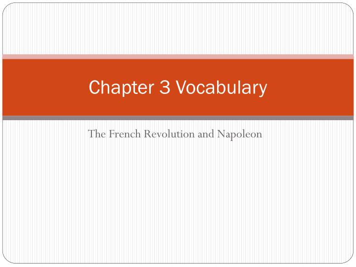 chapter 3 vocabulary n.