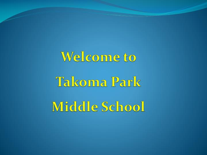 welcome to takoma park middle school n.