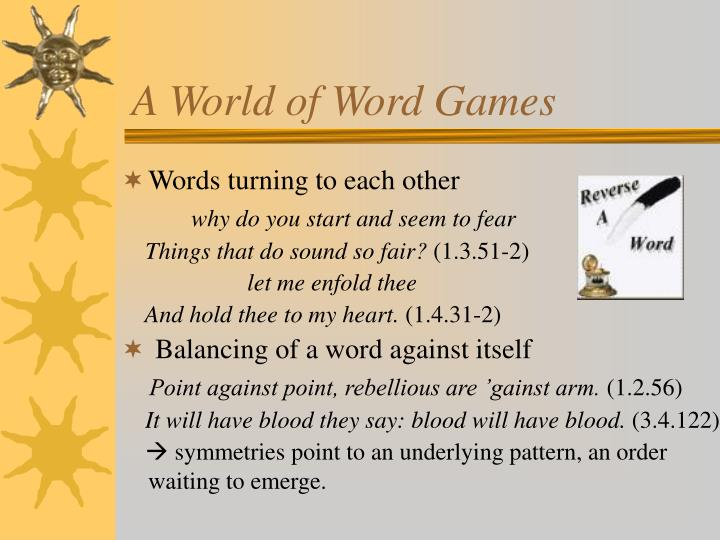 A World of Word Games