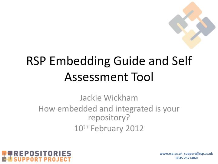 rsp embedding guide and self assessment tool n.