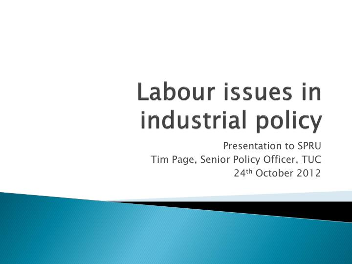 labour issues in industrial policy n.