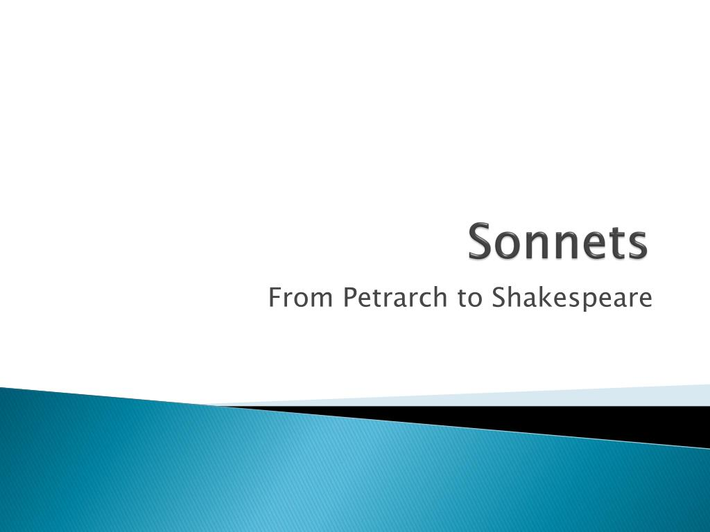 petrarch and shakespeare