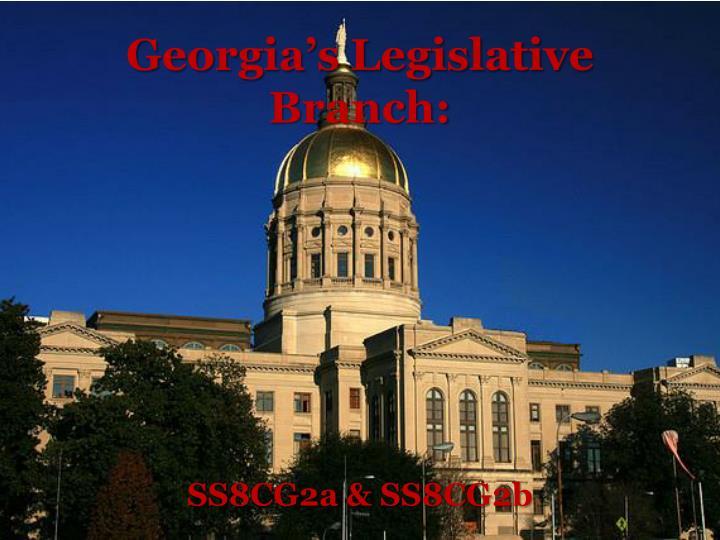 Georgia s legislative branch