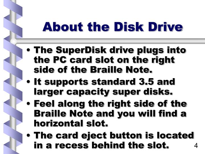 About the Disk Drive