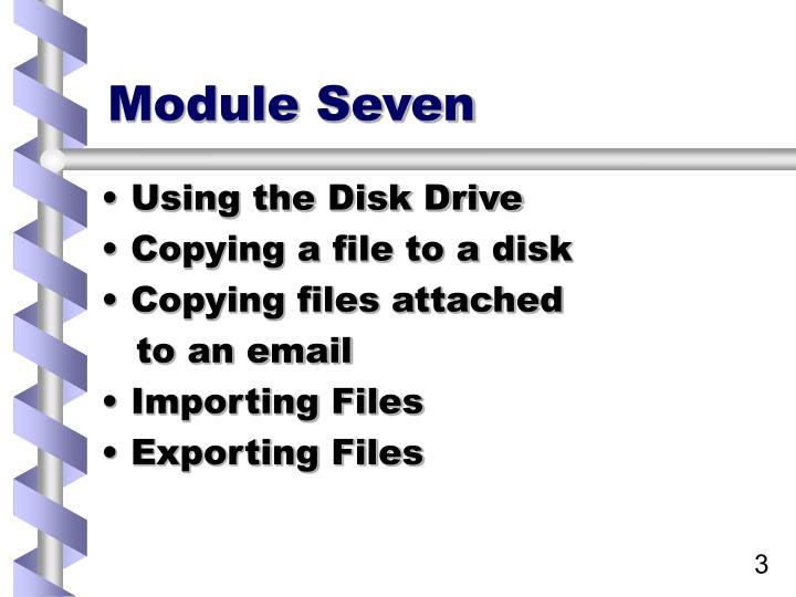 Module seven1