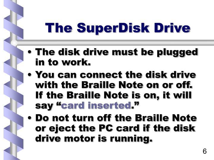 The SuperDisk Drive