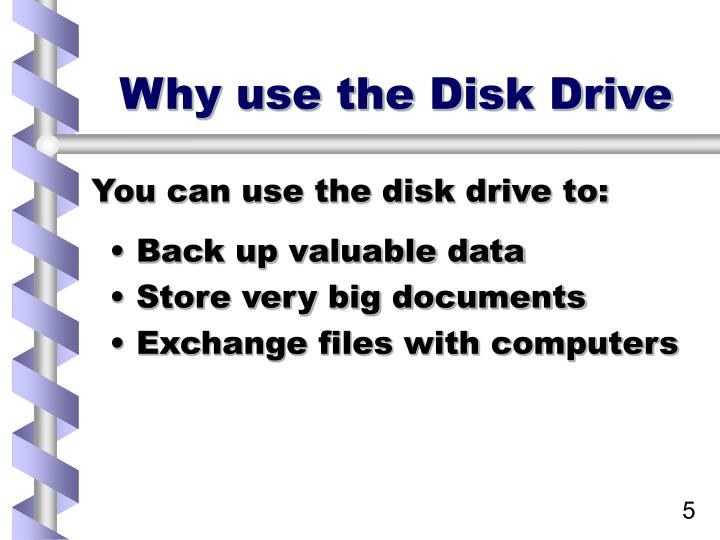 Why use the Disk Drive