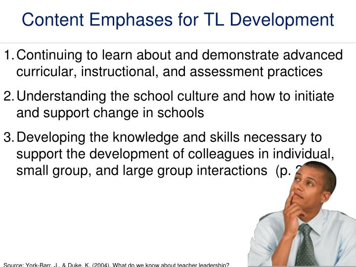 Content Emphases for TL Development