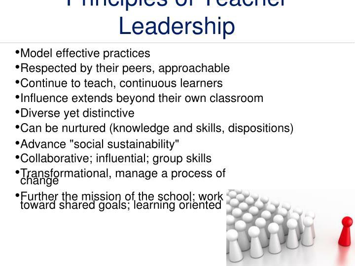 Principles of Teacher Leadership