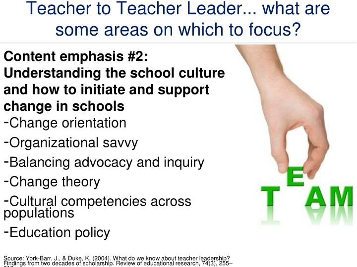 Teacher to Teacher Leader... what are some areas on which to focus?