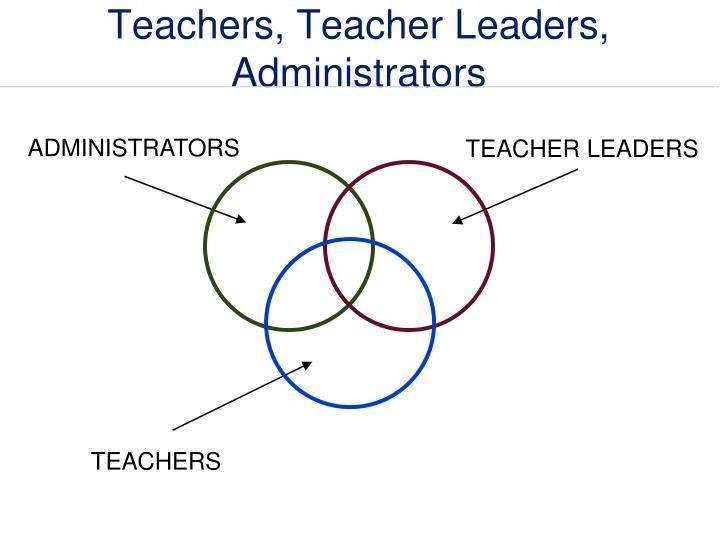 Teachers, Teacher Leaders, Administrators