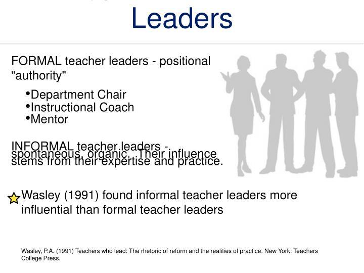 Types of Teacher Leaders