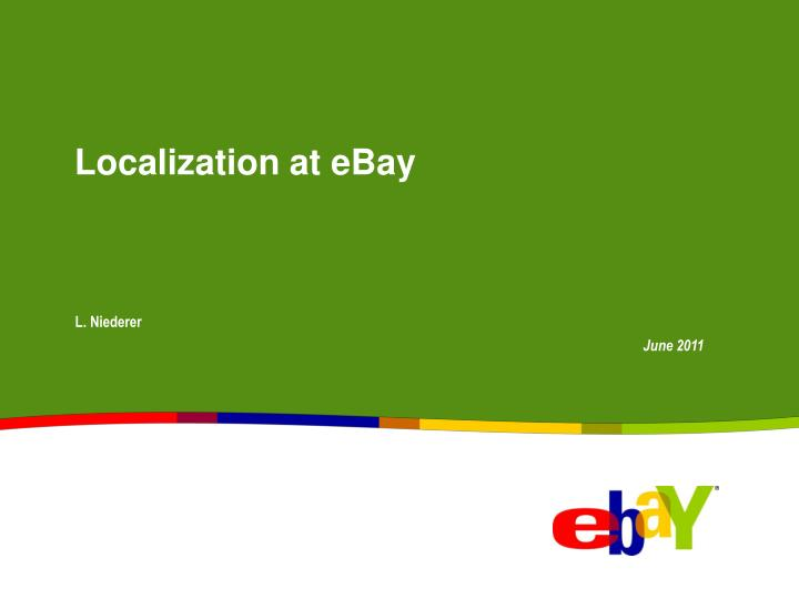 localization at ebay n.