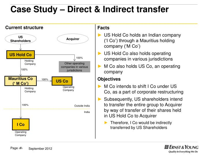 case study direct indirect transfer n.