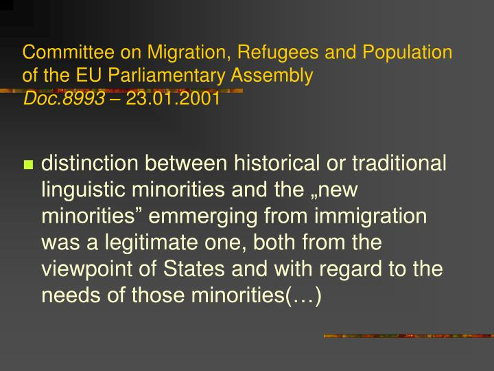 Committee on Migration, Refugees and Population