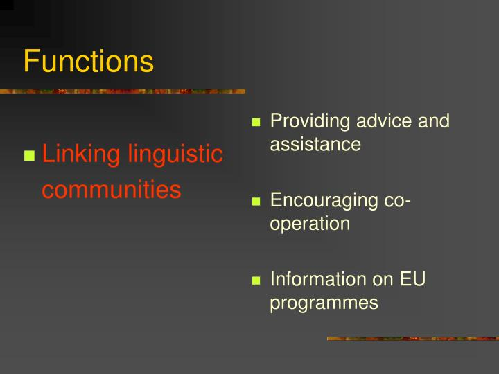 Linking linguistic