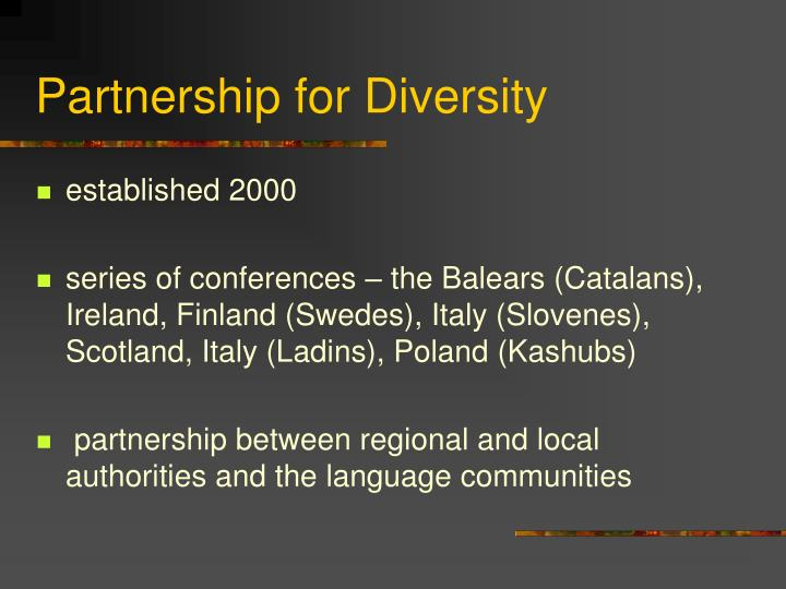 Partnership for Diversity