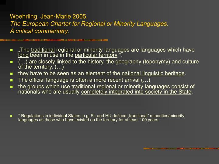 Woehrling, Jean-Marie 2005.