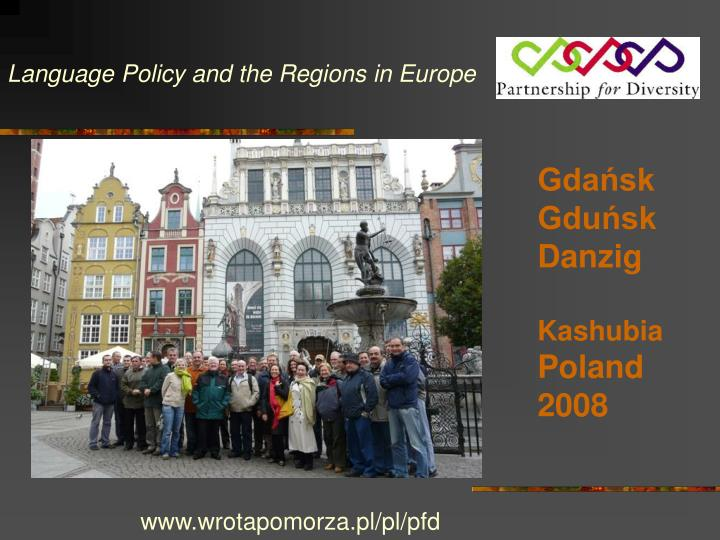 Language Policy and the Regions in Europe